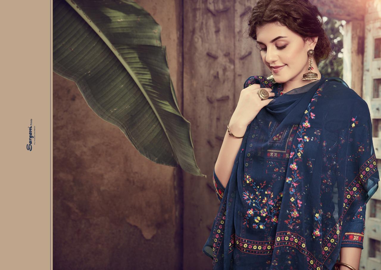 Sargam Prints Mehroon Designer Pashmina Discharge Print With Foil Suits Wholesale