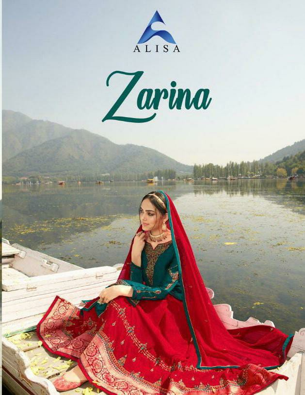 Alisa Zarina Designer Skirt With Jacquard Belt Heavy Work With Full Stitch Ghaghra Suits Wholesale