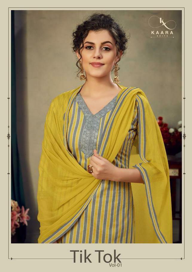 Kaara Tiktok Designer Jam Satin Orint With Embroidery Work Suits Wholesale