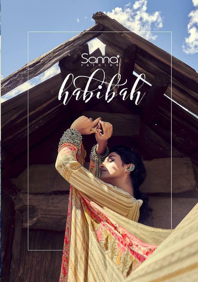 Sanna Habibah Premium Designer Pashmina Digital Printed With Handwork Suits Wholesale