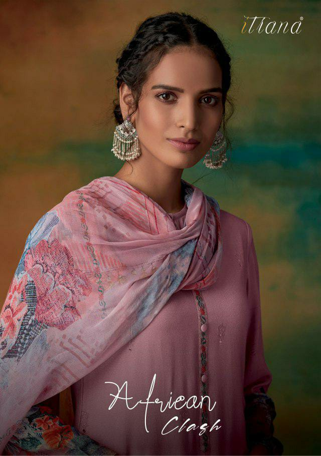 Itrana African Clash Designer Pashmina With Embroidery Work Winter Wear Suits In Best Wholesale Rate