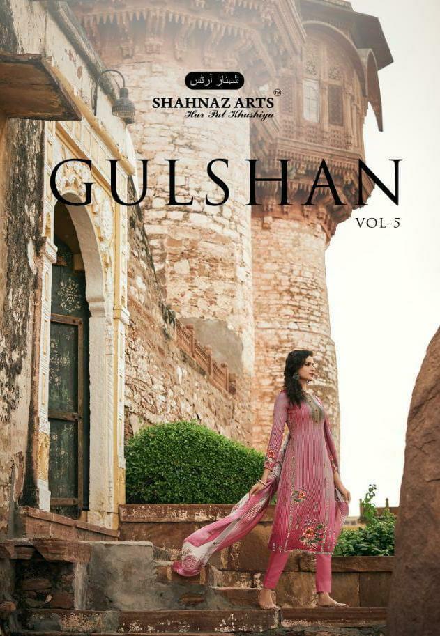 Shahnaz Arts Gulshan Vol 5 Designer Pashmina With Swarovski Work Winter Wear Suits Wholesale