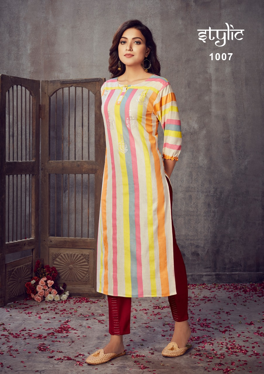 Stylic Eliza Vol 3 Designer Handloom And Fancy Kurtis With Pants Wholesale
