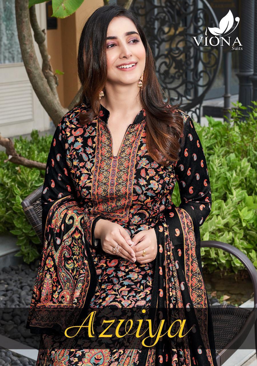 Viona Suit Azviya Designer European Pashmina Wool Suits Wholesale
