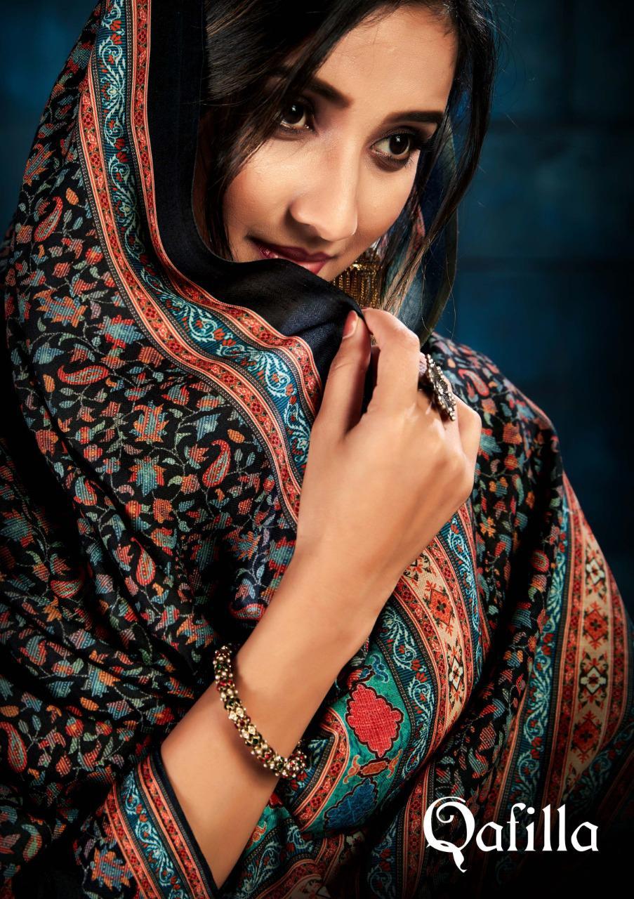 Sargam Prints Qafilla Designer Pashmina Digital Print With Swarovski Work Suits Wholesale
