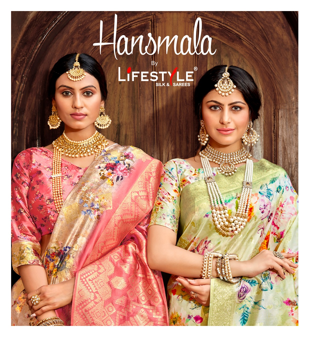 Lifestyle Hansmala Designer Lichi Silk Rich Pallu Sarees Wholesale