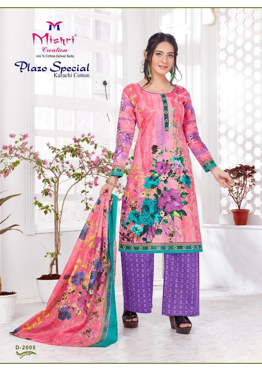 Mishri Creation Plazzo Special Vol 2 Designer Cotton Printed Karachi Style Suits In Single