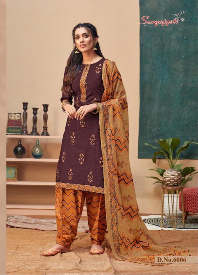 Suryajoti Sui Dhaga Vol 6 Designer Readymade Patiyala Special Suits Wholesale