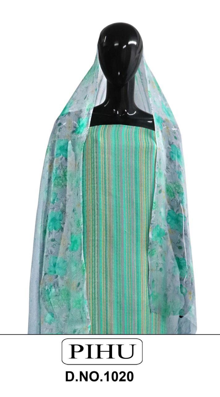 Pihu Pashmina Series 1020 Designer Pashmina Strips Printed Winter Wear Suits Wholesale