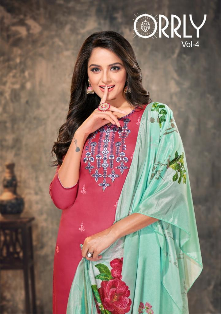 Orrly Vol 4 Designer Jam Cotton With Embroidery Work Suits Wholesale