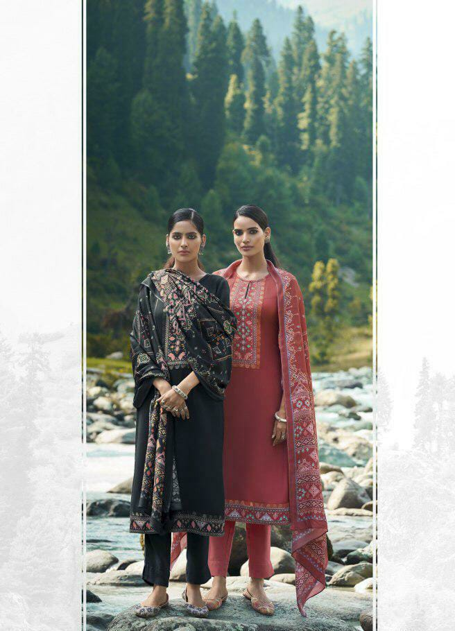 Sahiba Sudriti Kasuti Designer Pashmina Woolen Winter Wear Suits Wholesale