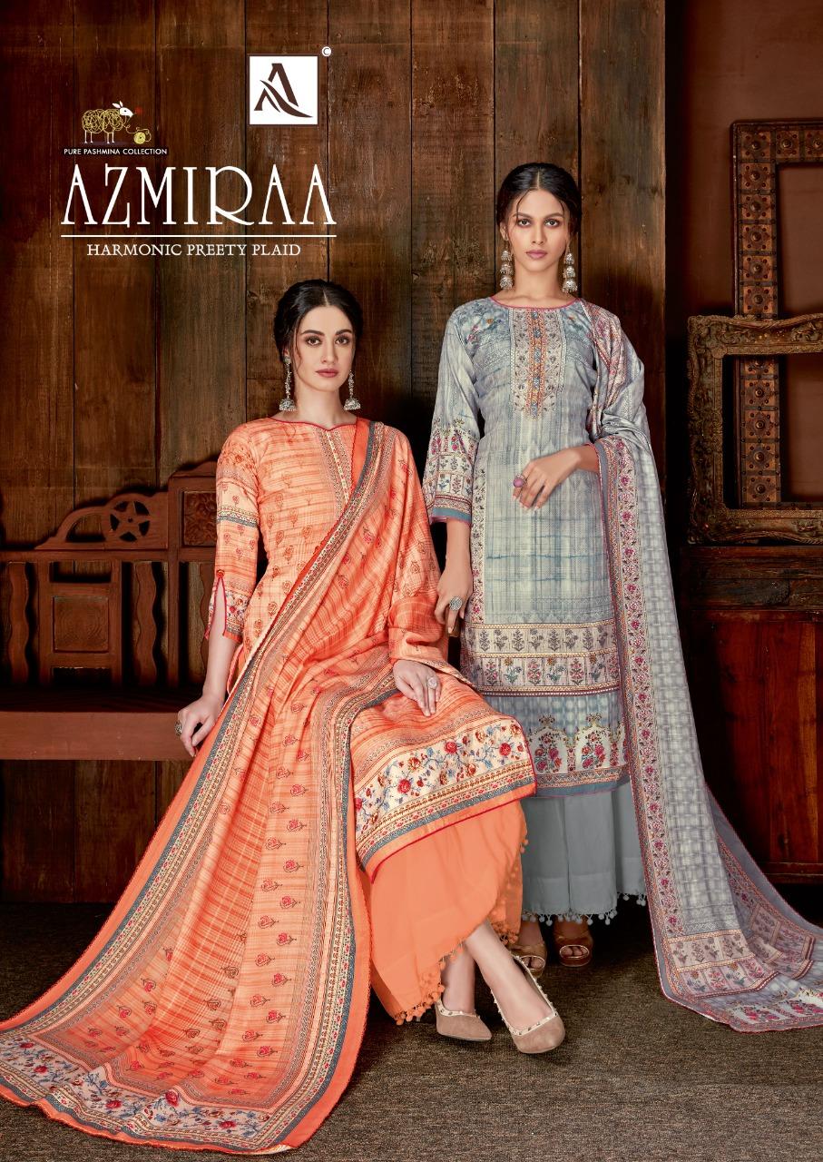 Alok Suit Azmiraa Designer Wool Pashmina Digital Printed Suits Wholesale
