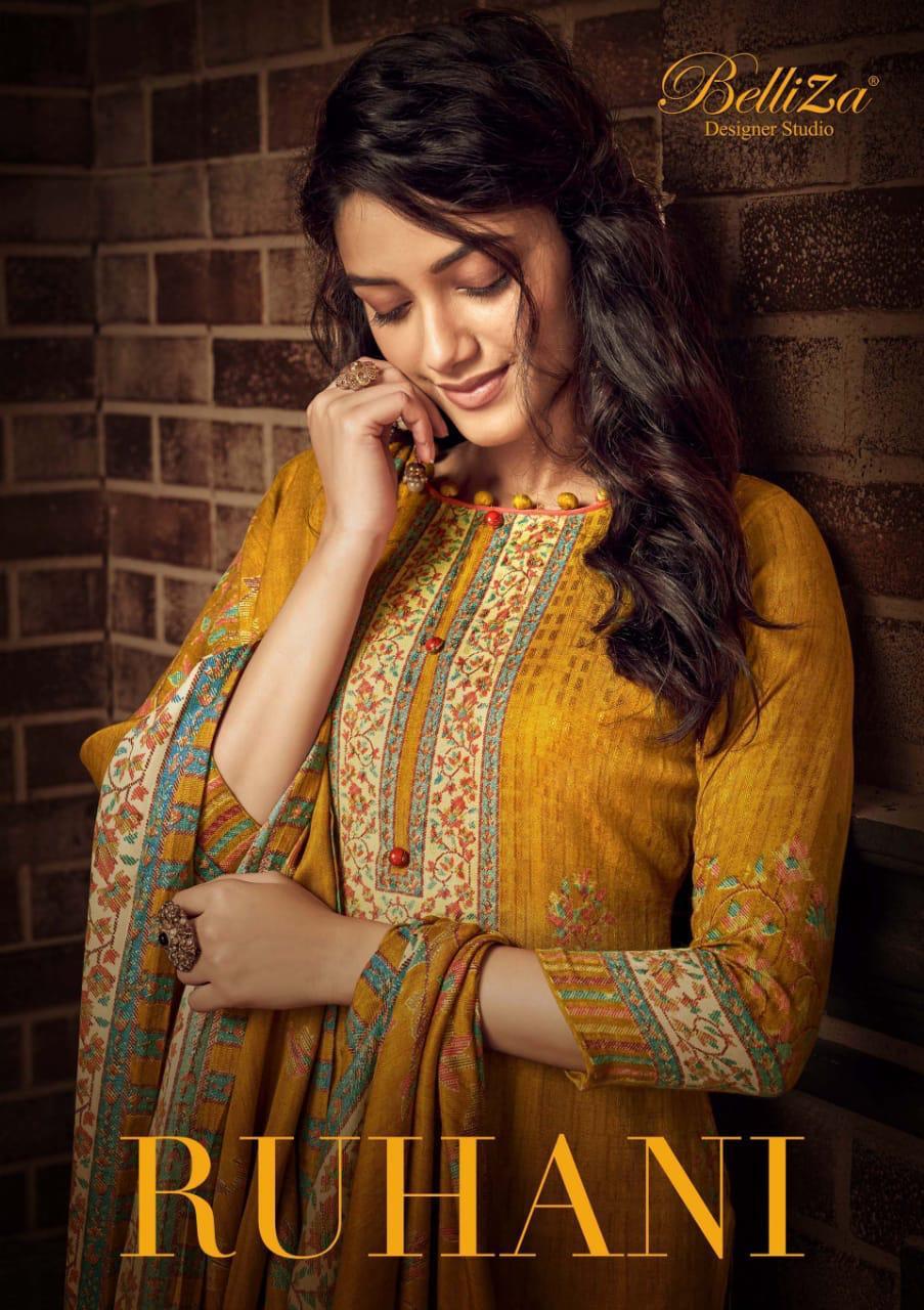 Belliza Ruhani Designer Pashmina Digital Style Printed Winter Wear Suits Wholesale