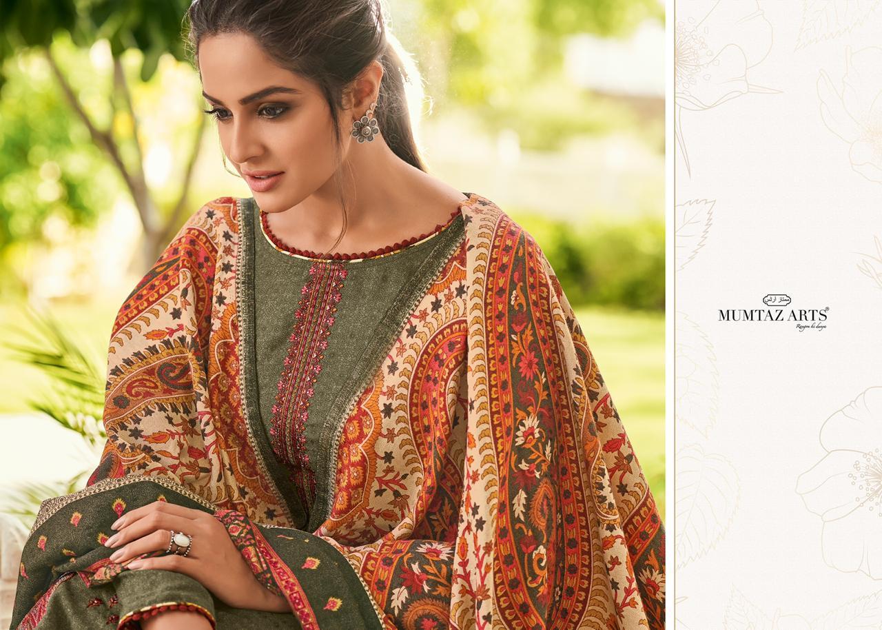 Mumtaz Arts Jamawar Nx Designer Digital Printed Shawl Box Pallu Kashmiri Suits Wholesale