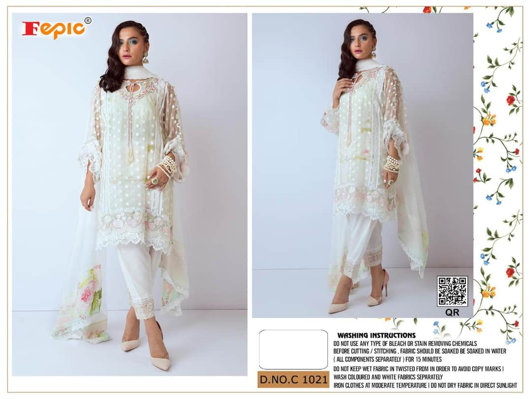 Fepic Rosemeen C 1021 Designer Net Santoon Partywear Suits Wholesale
