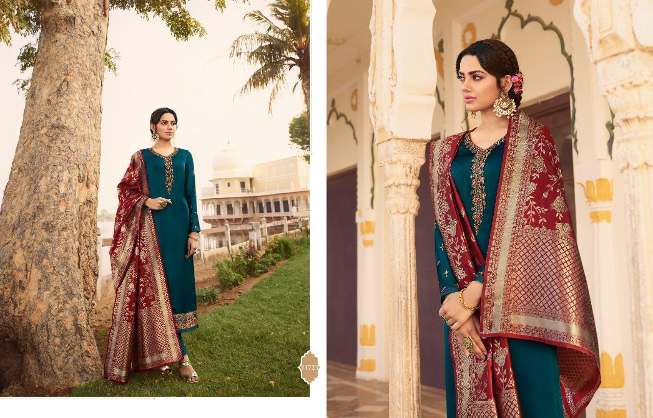 Zisa Banarasi Vol 6,7,8 Superhit Satin Georgette Partywear Suits In Singles