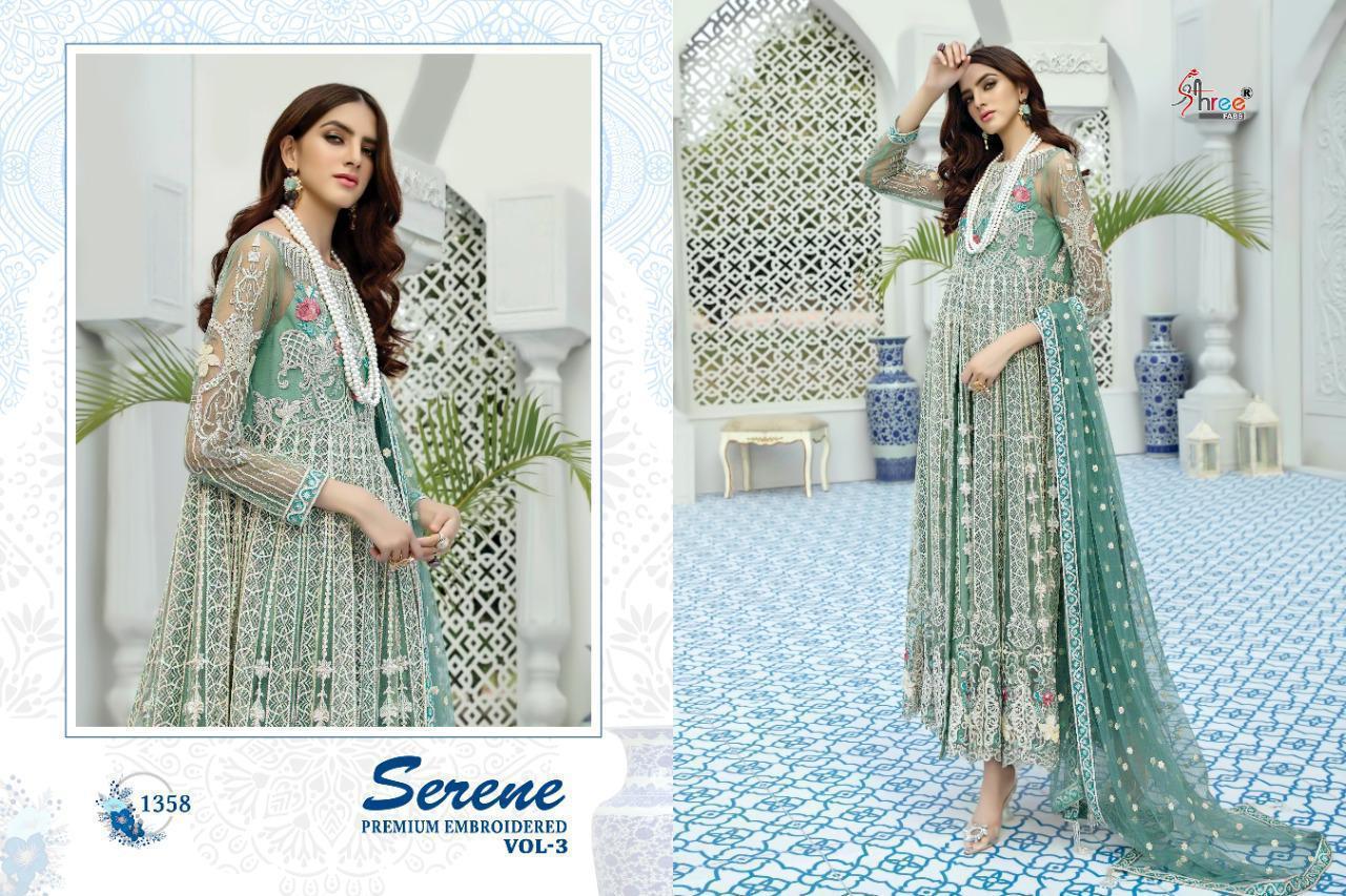 Shree Fab Serene Premium Embroiderd Vol 3 Designer Fox Georgette Suits In Single