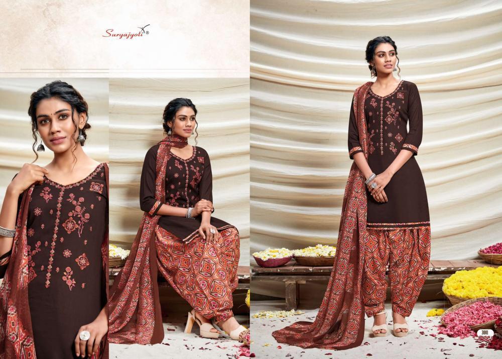 Suryajoti Patiyala Express Vol 3 Designer Cotton Printed Suits In Single