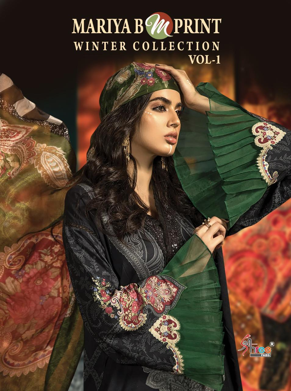 Shree Fab Mariya B M Print Winter Collection Vol 1 Designer Pashmina Embroidery Work Suits Wholesale