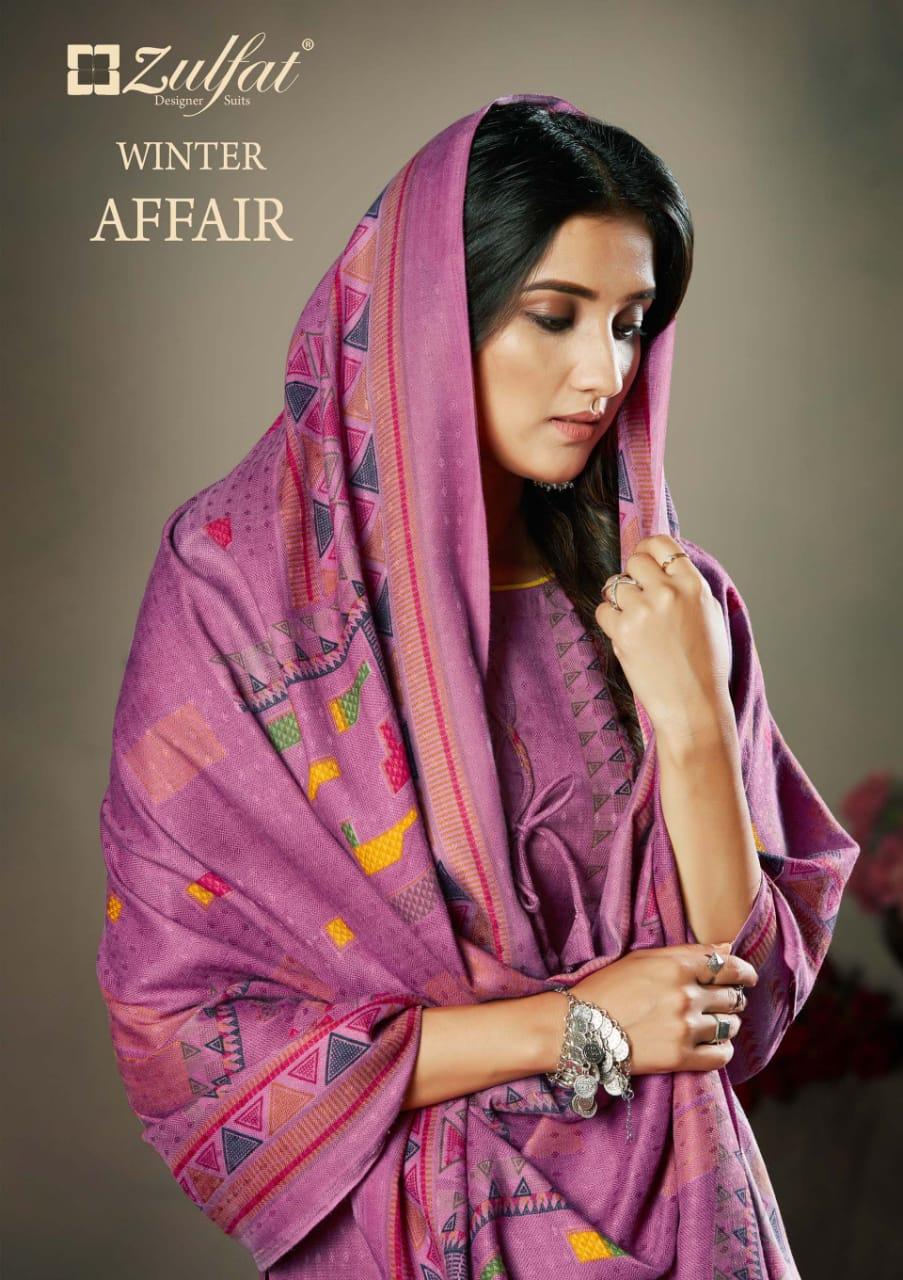 Zulfat Designer Winter Affair Designer Pashmina Digital Print With Shawal Dupatta Suits Wholesale