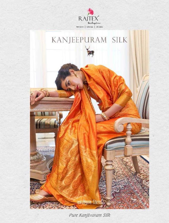 Rajtex Kanjeepuram Silk Designer Kanjivaram Silk Sarees Wholesale