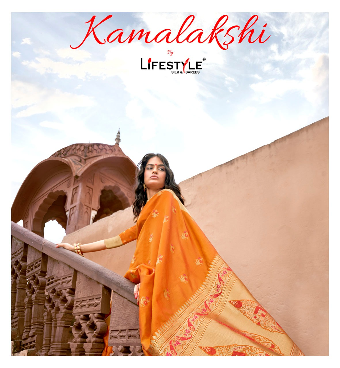 Lifestyle Kamalakshi Designer Lichi Rich Pallu Partywear Sarees Wholesale