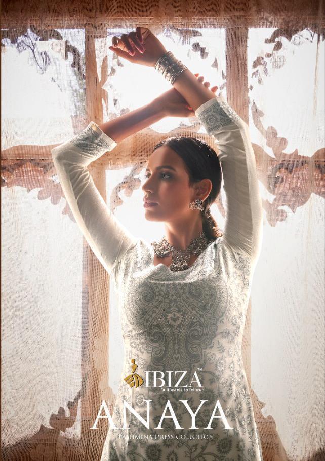 Ibiza Anaya Designer Handloom Weaving Pashmina Suits Wholesale