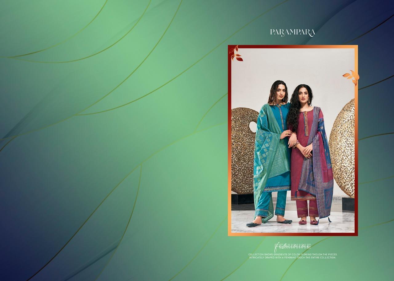 Rangoon Parampara Fancy Silk Sleeves Work Stitch Suits Wholesale