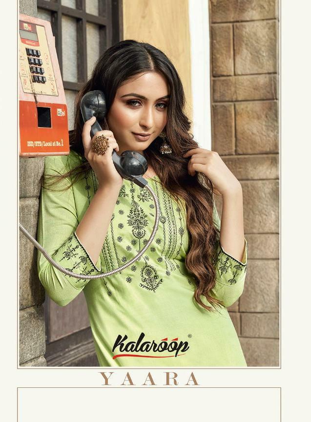 Kalaroop Yaara Designer Rayon Flex Work Kurti Plazzo Wholesale