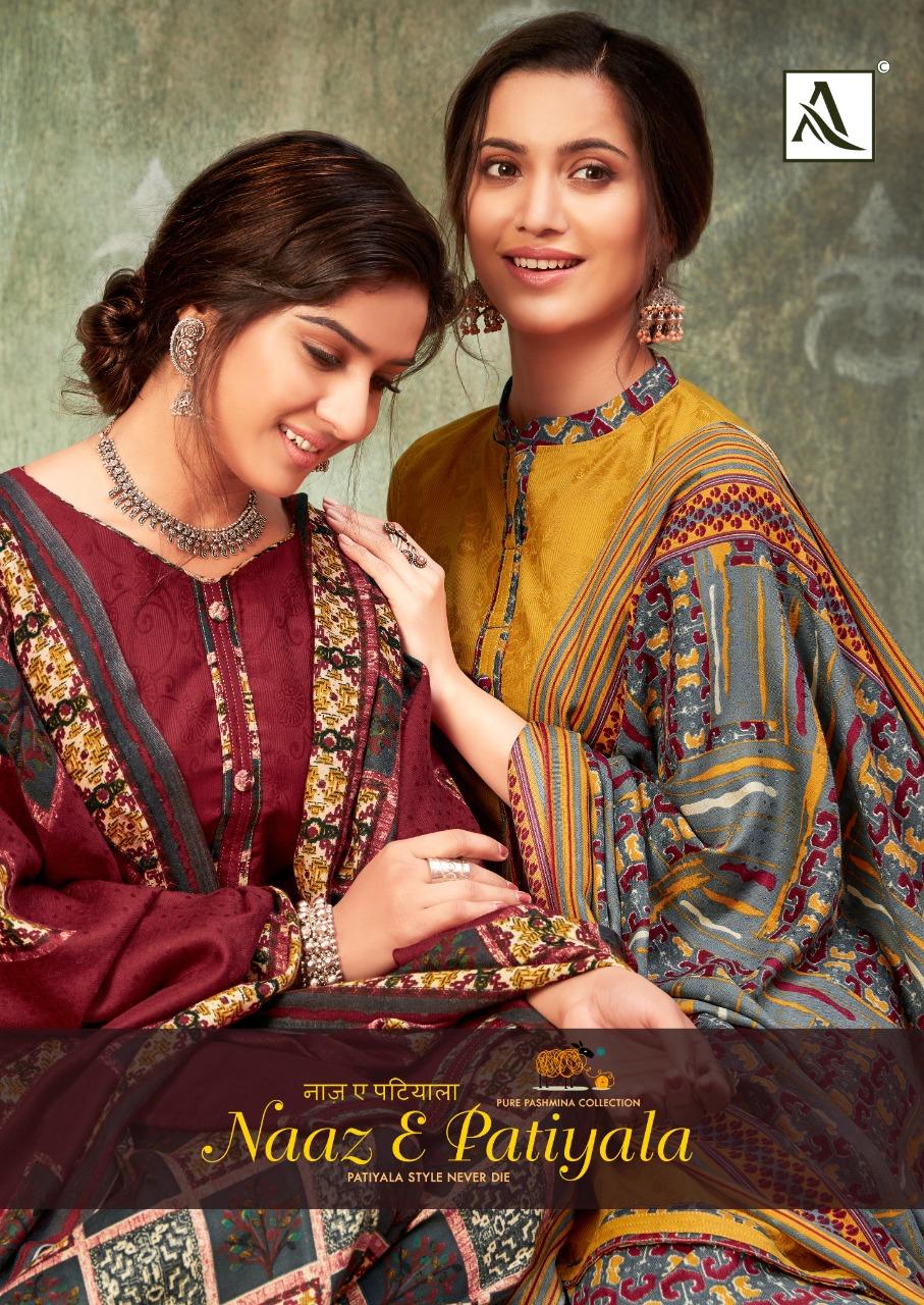 Alok Suit Naaz E Patiyala  S 517-001 Series Designer Pashmina Jacquard Suits Wholesale