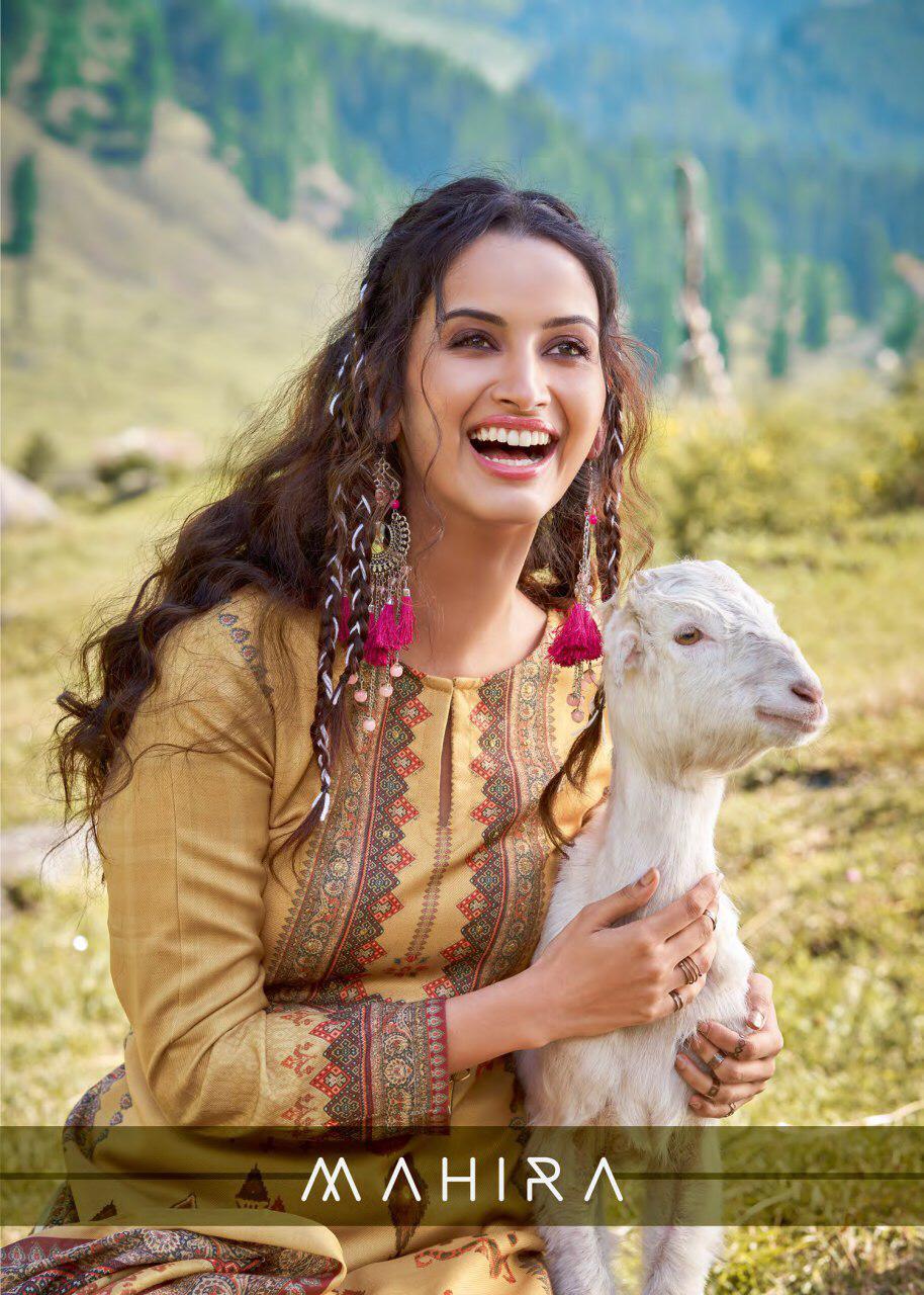 T&m Mahira Pashmina Digital Print With Mirror Work Suits Wholesale