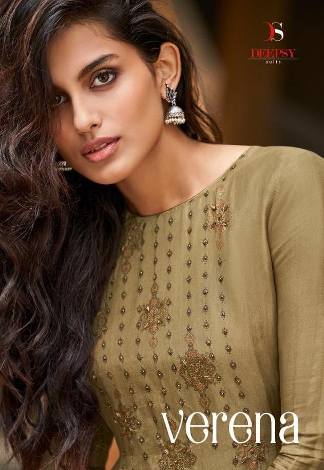 Deepsy Verena Designer Opada Silk With Digital Print Khat Handwork Suits Wholesale