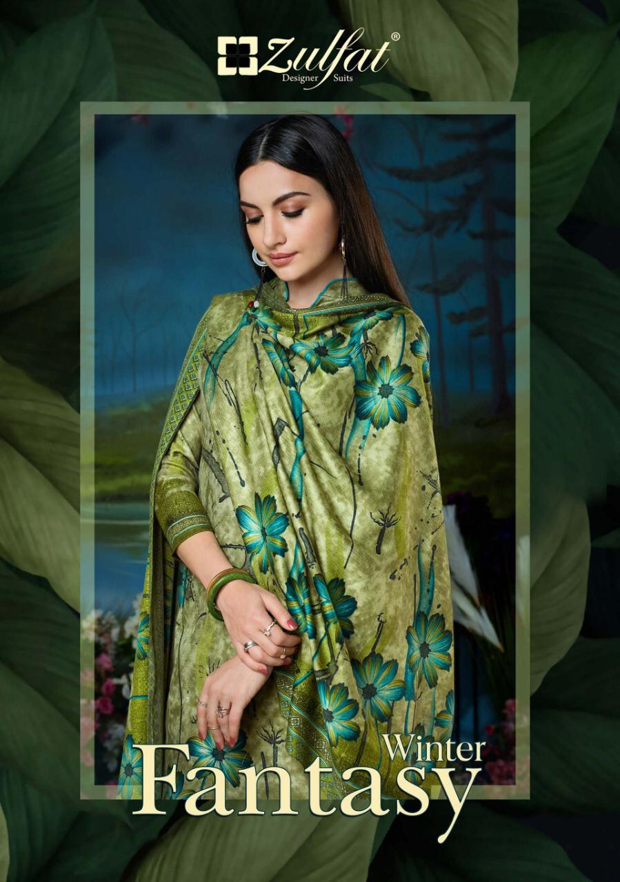 Zulfat Designer Winter Fantasy Vol 2 Designer Pashmina Digital Printed Suits Wholesale