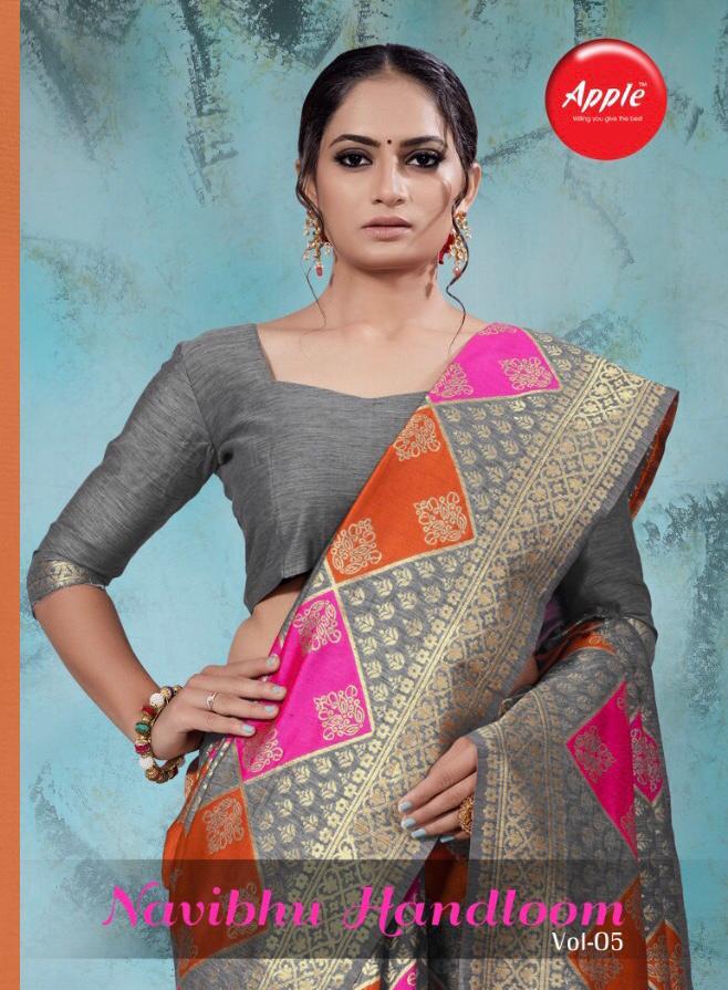 Apple Navibhu Vol 5 Designer Cotton Handloom Silk Sarees Wholesale