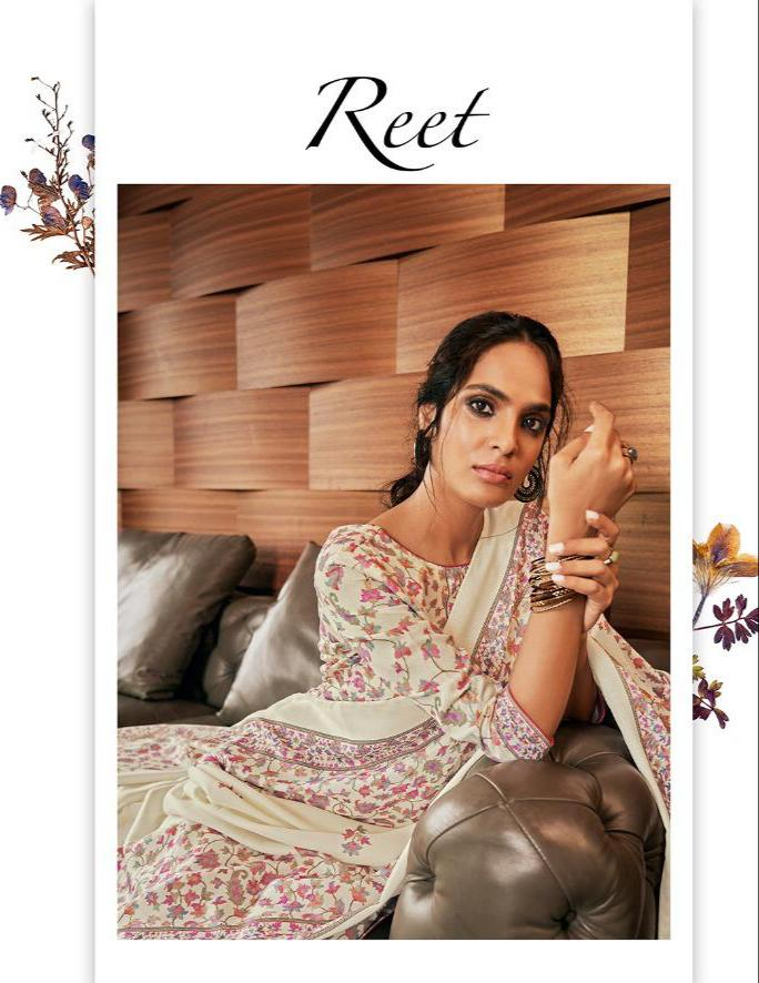 Glossy Reet Designer Pashmina Printed Suits Wholesale