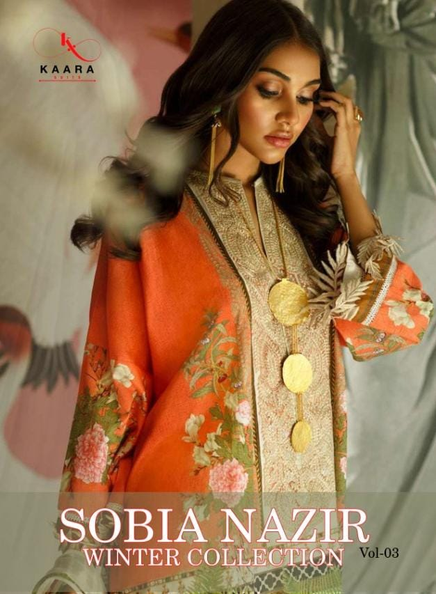 Kaara Suits Sobia Nazir Vol 3 Designer Pashmina Print Winter Wear Suits Wholesale