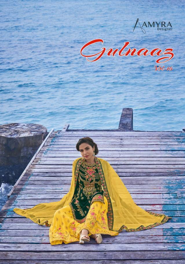 Amyra Gulnaaz Premium Bridal Collection Vol 16 Designer Heavy Georgette With Embroidery Work