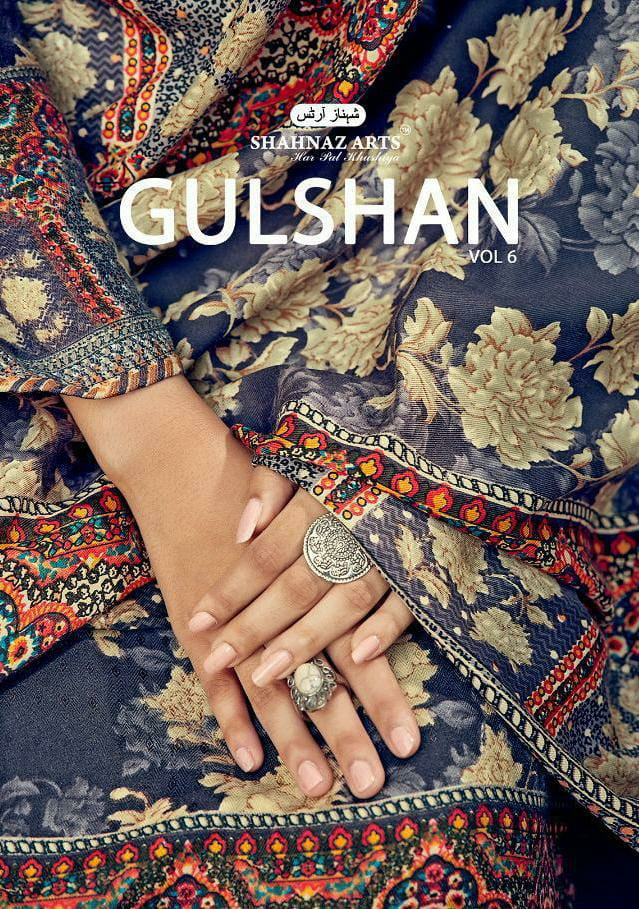 Shahnaz Arts Gulshan Vol 6 Designer Pashmina Print Winter Wear Suits Wholesale