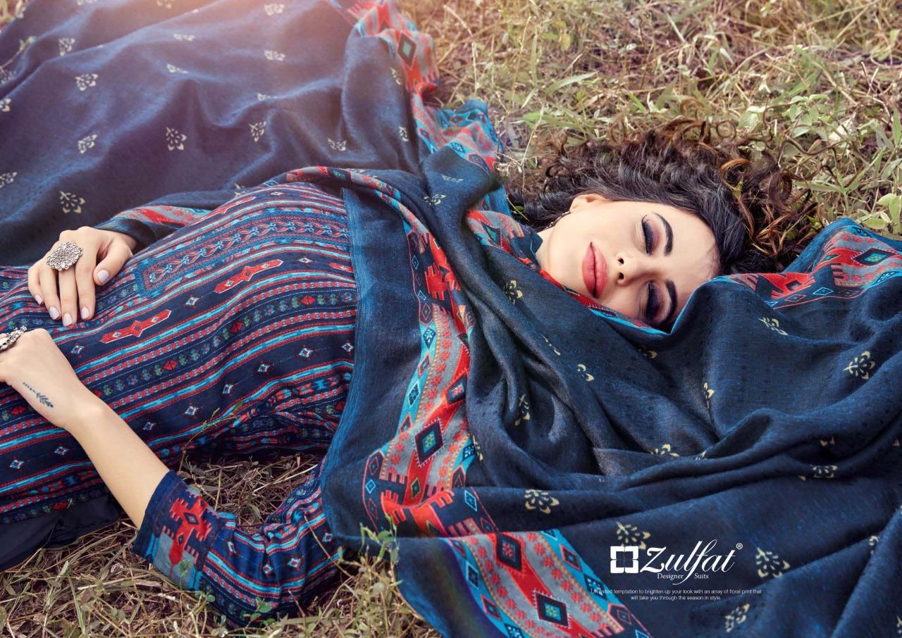 Zulfat Designer Winter Magic Vol 2 Designer Pashmina Digital Style Printed Suits Wholesale