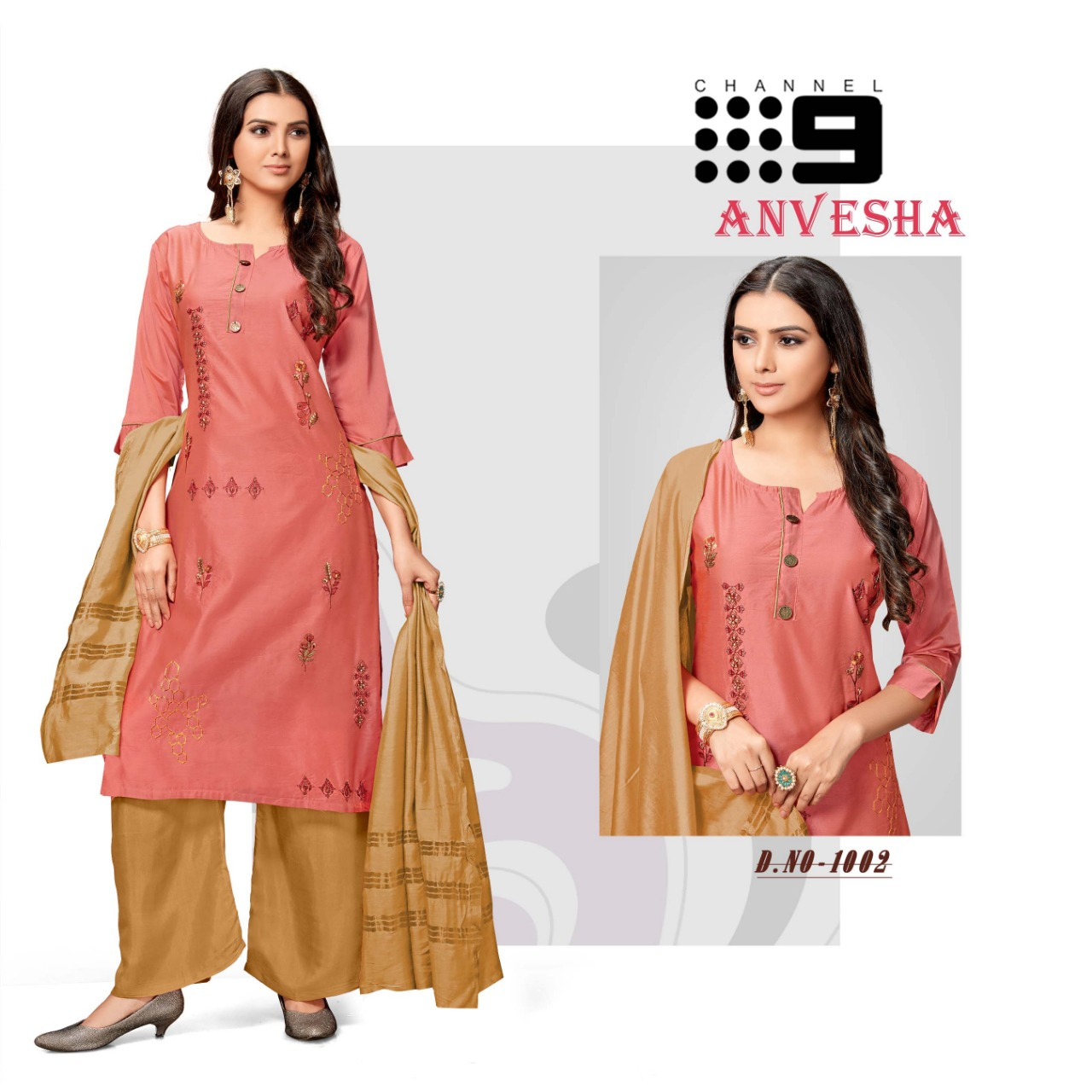 Channel 9 Anvesha Designer Silk Top With Exclusive Viscose Dupatta And Bottom Wholesale