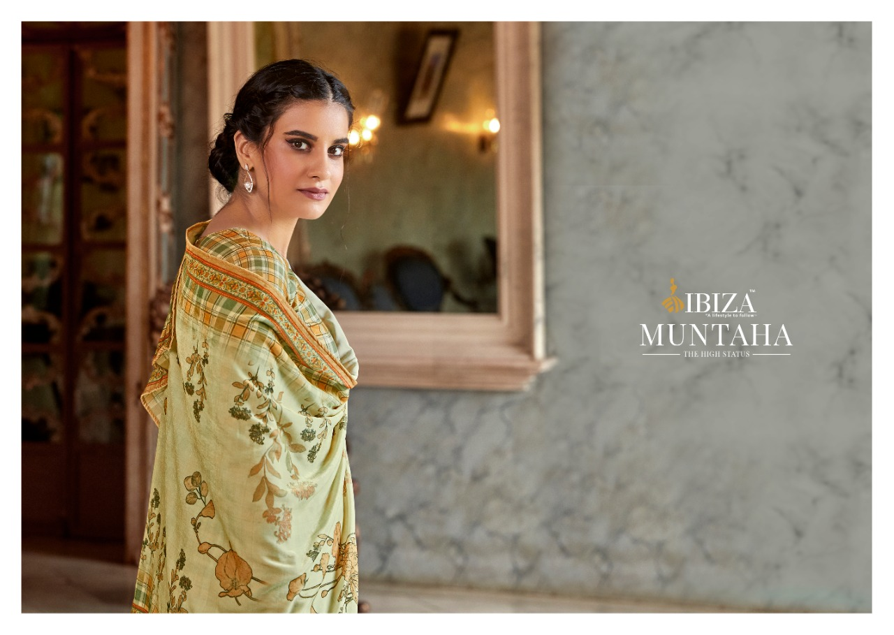 Ibiza Mumtaha Designer Wool With Digital Printed Fancy Embroidery Work Suits Wholesale