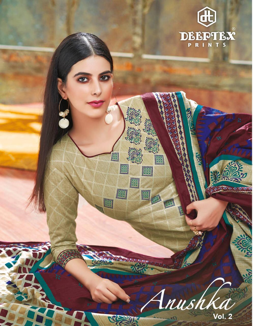 Deeptex Anushka Vol 2 Designer Cotton Printed Low Range Suits Wholesale