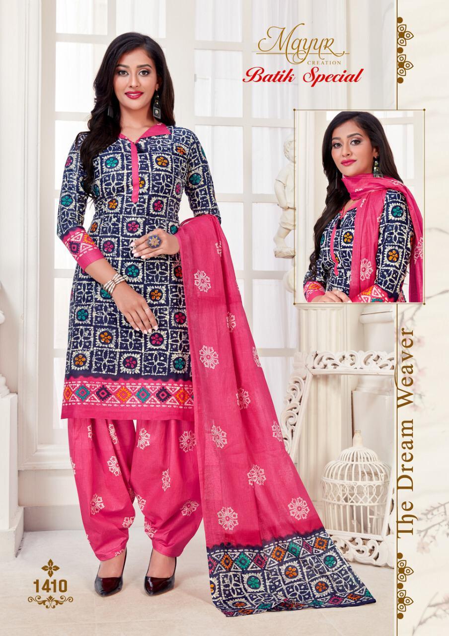 Mayur Creation Batik Special Vol 14 Designer Pure Cotton Daily Wear Suits Wholesale