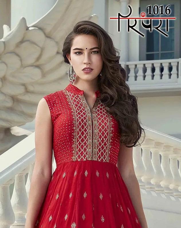 Parampara Vol 4 Designer New Pattern Georgette Silk Stitch Gowns Wholesale