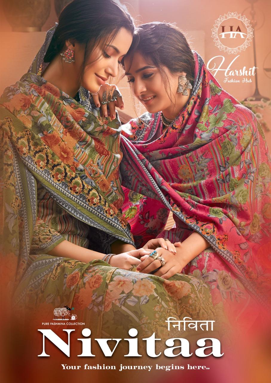 Harshit Fashion Hub Alok Suit Nivitaa  Pure Wool Pashmina Printed Suits Wholesale
