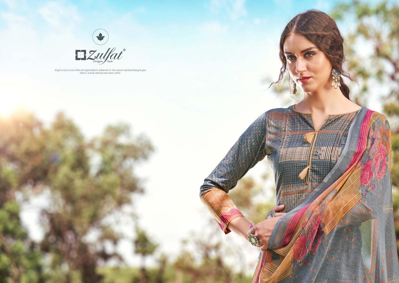 Zulfat Designer Adah Cotton Digital Style Printed Suits Wholesale