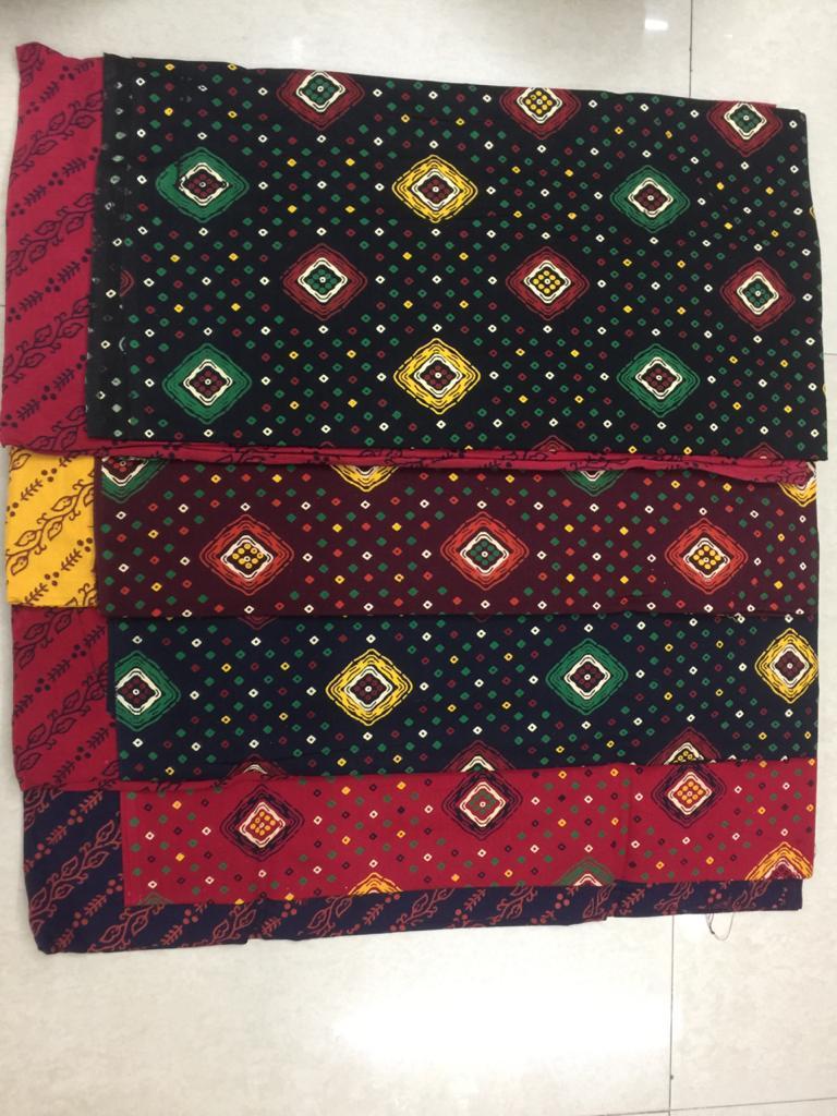 Bandhani Cotton Printed Designer Bandhani Printed Cotton Suits Wholesale