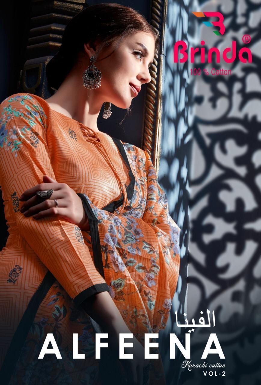 Brinda Alfeena Designer Cotton Printed Daily Wear Suits Wholesale