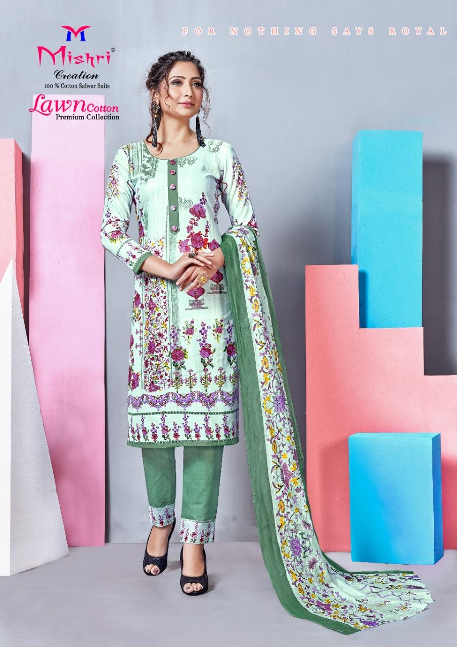Mishri Creation Lawn Cotton Vol 4 Designer Low Range Suits Wholesale