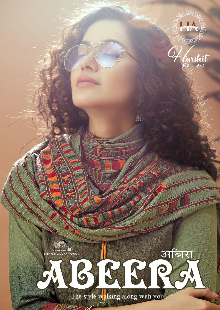 Harshit Fashion Hub Alok Suit Abeera Designer Pashmina Digital Print Suits Wholesale